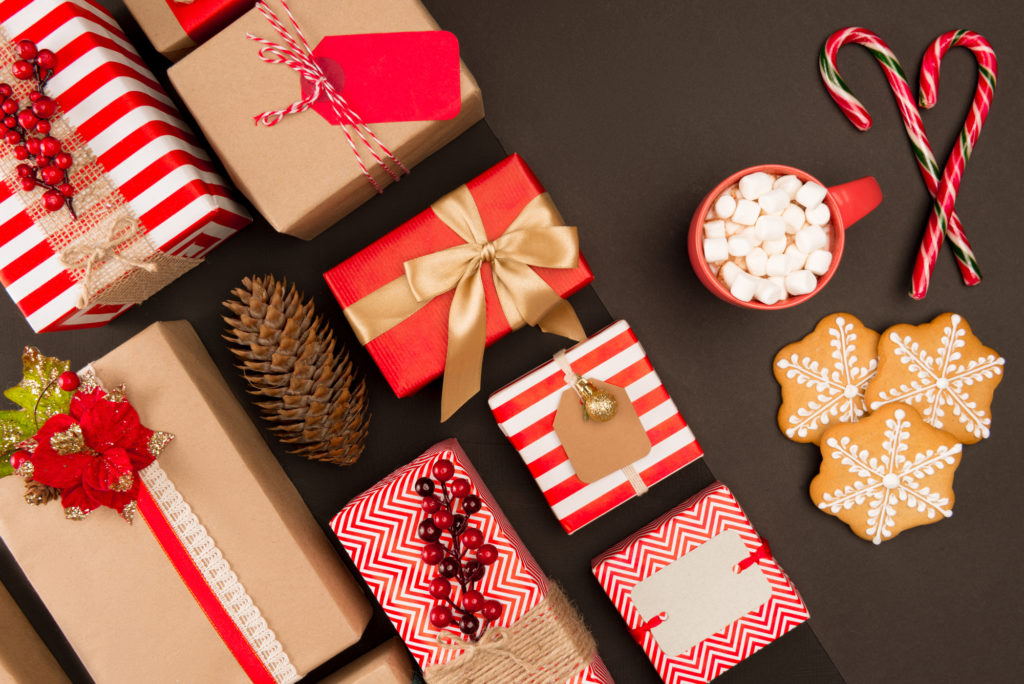 Christmas wrapped packages