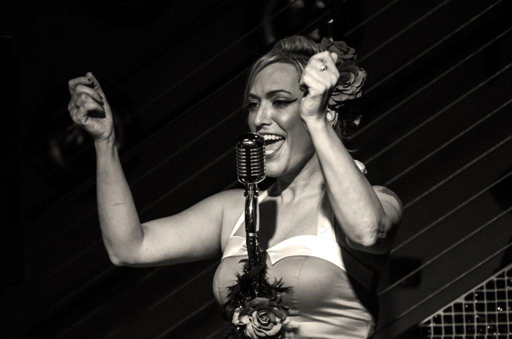 Singer Aura Performing