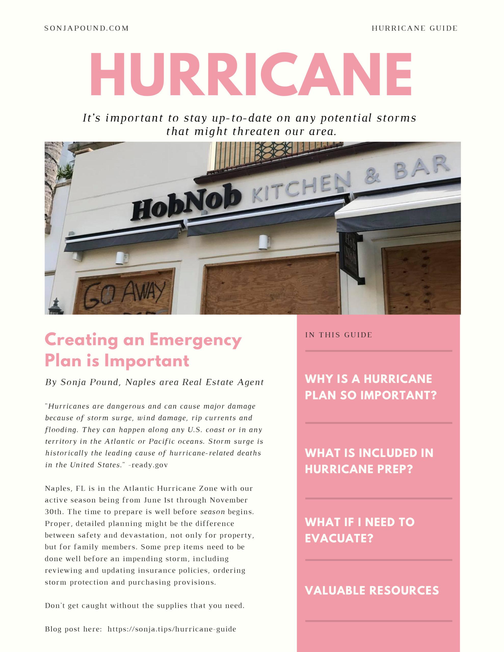 Sonja Pound Hurricane Guide Cover